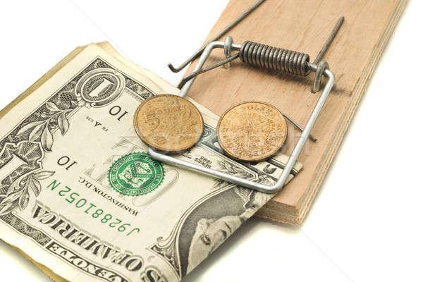 Dinheiro negócio madeira mouse financeiro Foto stock © Arsgera