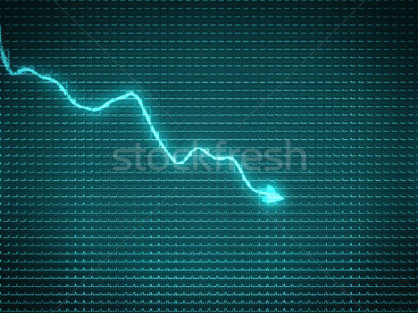 Blue trend graph as symbol of recession  Stock photo © Arsgera