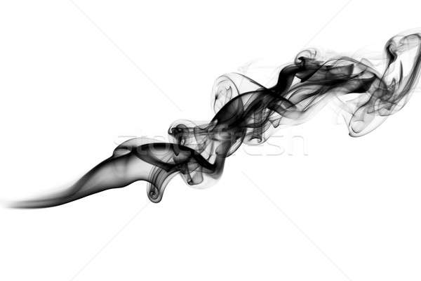 Black Abstract puff of fume on white Stock photo © Arsgera