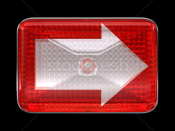 Right direcion arrow button or headlight Stock photo © Arsgera