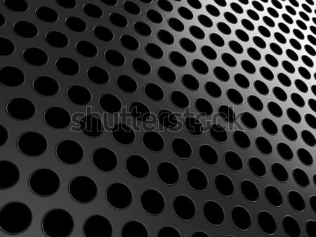 Close-up of black aluminum grill Stock photo © Arsgera