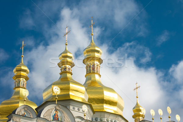 Kiev-Pecherskaya Laura. Cupola of Orthodox church Stock photo © Arsgera