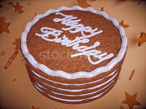 поздравление именинный торт звезды большой разрешение продовольствие Сток-фото © Arsgera