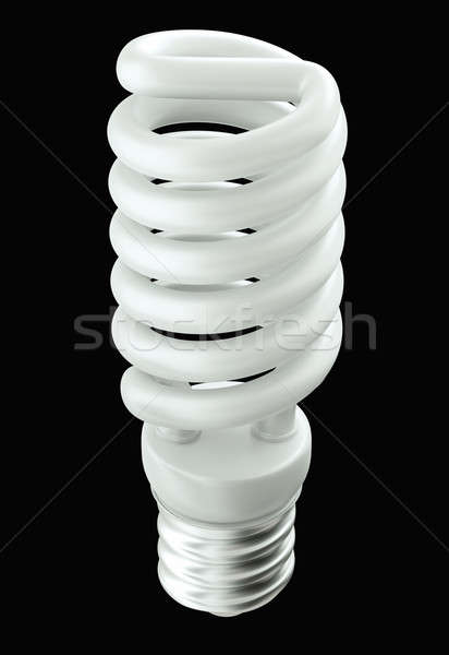 Fluorescent Energy efficient light bulb isolated  Stock photo © Arsgera