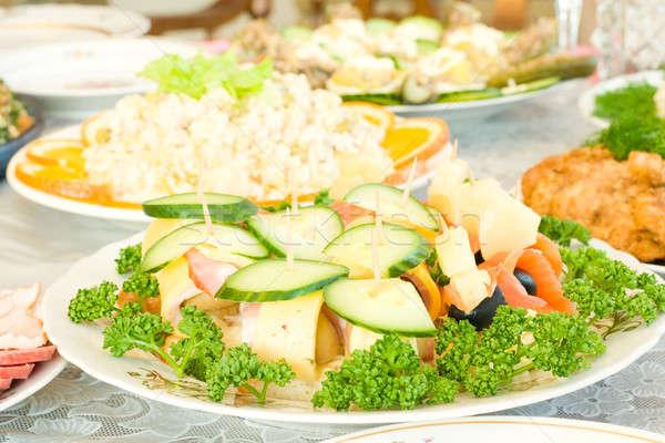 Foto stock: Aperitivo · banquete · restaurante · um · prato