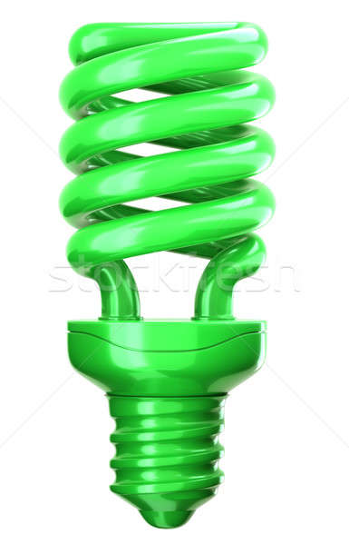 green light bulb: efficiency and eco friendly technology Stock photo © Arsgera