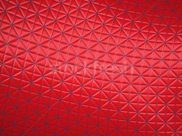 Red fabric with triangle stitched pattern Stock photo © Arsgera