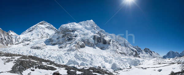 Everest base camp area panoramic view Stock photo © Arsgera