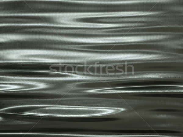 folding metallic texture material with waves and ripples Stock photo © Arsgera