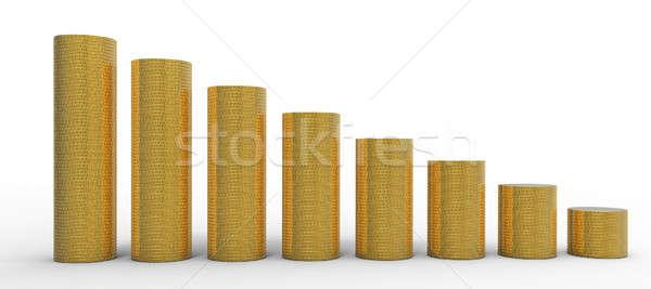 ストックフォト: 進捗 · コイン · 金属 · 金融 · ステージ