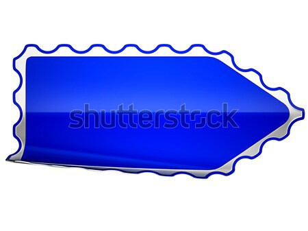 Blue jagged bent sticker or label  Stock photo © Arsgera