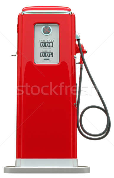 Retro red fuel pump isolated Stock photo © Arsgera