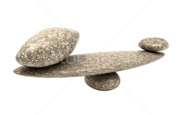 Ponderous thing: balancing cobblestones isolated Stock photo © Arsgera