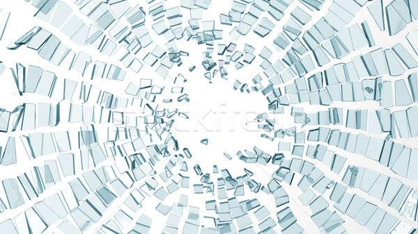 Peças cacos de vidro branco grande projeto Foto stock © Arsgera