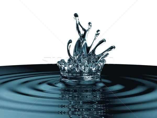 藍色 液體 飛濺 表面 孤立 商業照片 © Arsgera