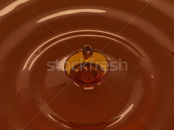 Alcoholic beverage splash with droplet: whisky Stock photo © Arsgera