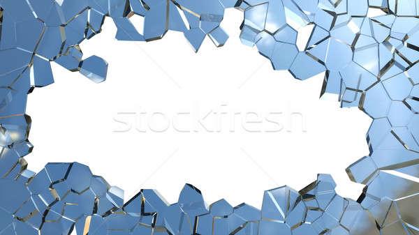 Scherp stukken zwarte abstract ontwerp Stockfoto © Arsgera