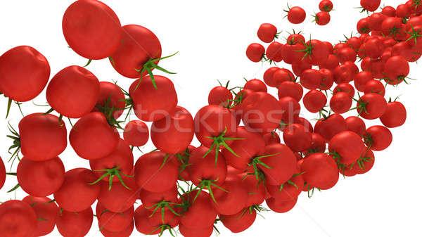 Tomatoes Cherry flow isolated over white Stock photo © Arsgera
