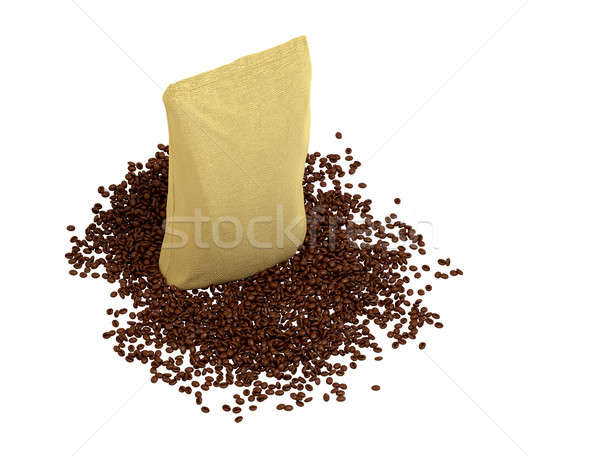 Top view of Sacking Package on coffee beans Stock photo © Arsgera