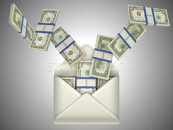 US dollars in opened envelope Stock photo © Arsgera