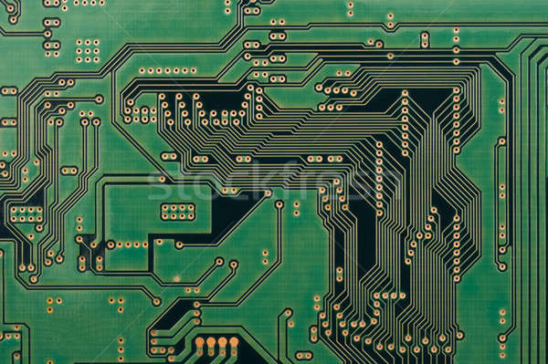 Integrato circuito wafer shot macro computer Foto d'archivio © Arsgera