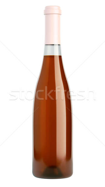 Botella vino blanco brandy aislado blanco fiesta Foto stock © Arsgera