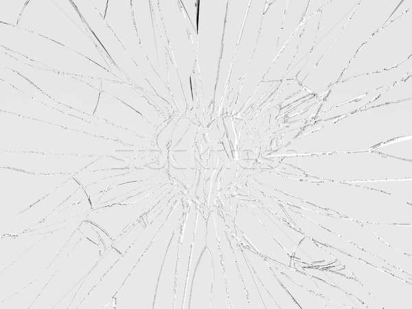 Love and divorce: Shattered glass heart shape Stock photo © Arsgera