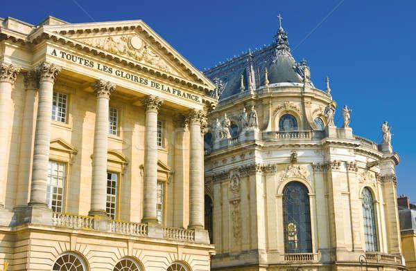 Beautiful palace facade in Versailles Stock photo © Arsgera