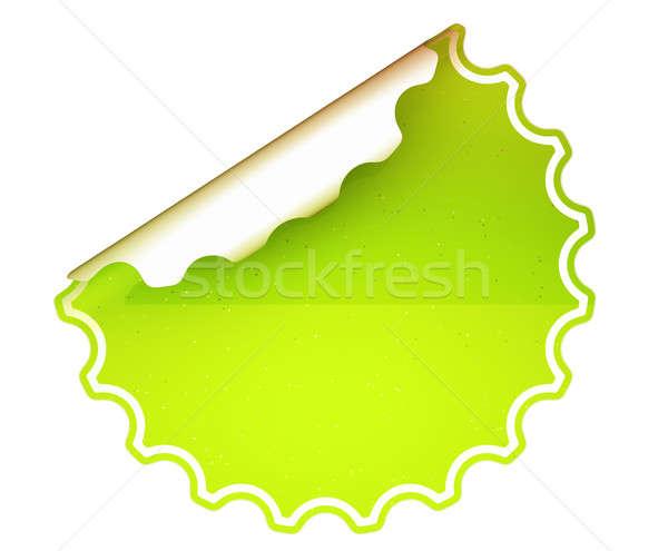 Lettuce Green round bent sticker or label  Stock photo © Arsgera
