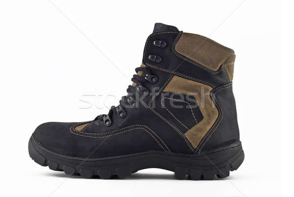 Side view of Warm leather boot  Stock photo © Arsgera