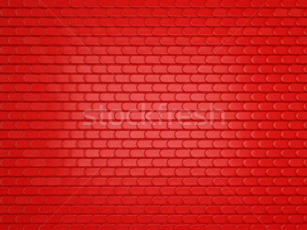Red Leather stitched background with scales texture Stock photo © Arsgera