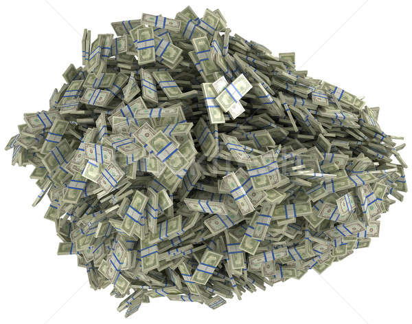 Money and wealth. Heap of US dollar bundles Stock photo © Arsgera