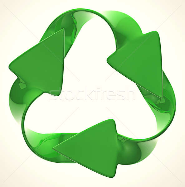 Ecological sustainability: green recycling symbol  Stock photo © Arsgera