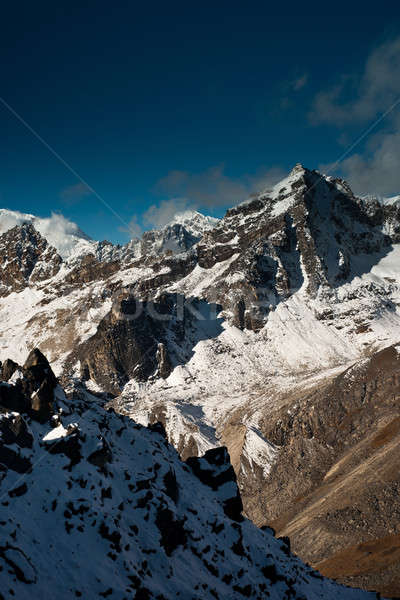 Scene: peaks and clouds from Gokyo Ri summit Stock photo © Arsgera