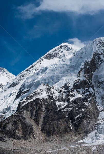 Summit not far Gorak shep and Everest base camp Stock photo © Arsgera