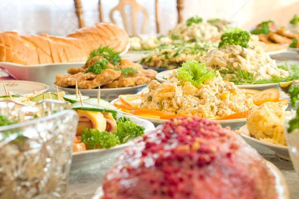 宴会 レストラン 1 皿 浅い ストックフォト © Arsgera