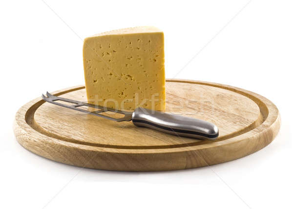 Knife and cheese on the board  Stock photo © Arsgera