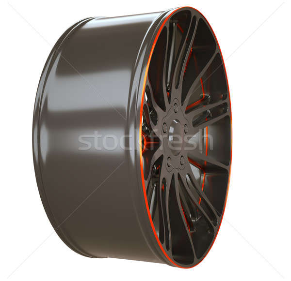Side view of Alloy wheel or disc of sportcar isolated Stock photo © Arsgera