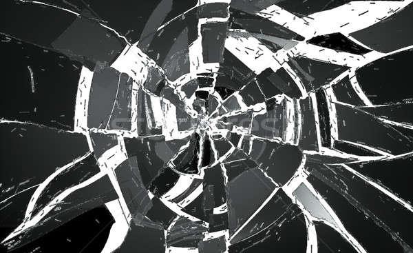 Muitos peças vidro quebrado branco útil abstrato Foto stock © Arsgera