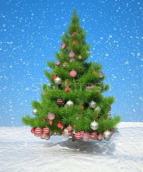 Navidad decoración nevadas cielo azul útil año nuevo Foto stock © Arsgera