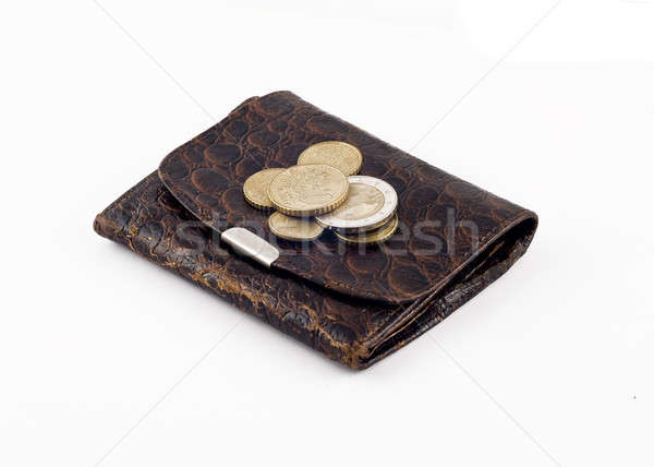 Obsolete wallet with change  Stock photo © Arsgera