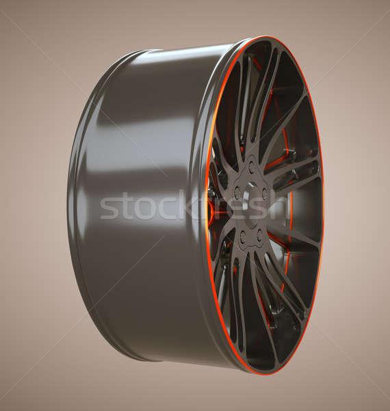 Sport racing: wheel or disc of sportcar Stock photo © Arsgera