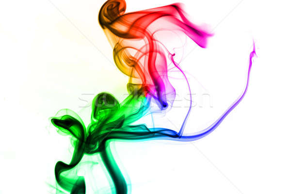 Colored fume abstract on white  Stock photo © Arsgera