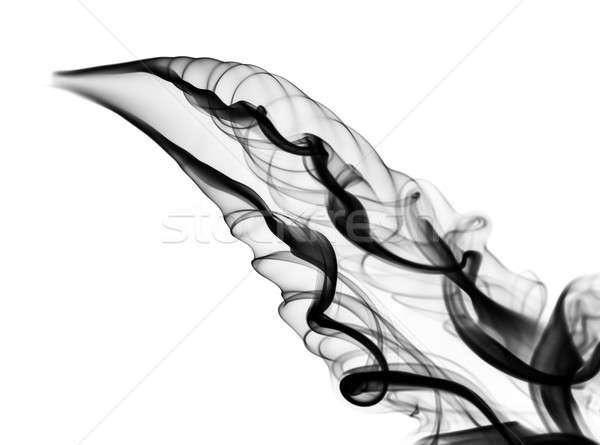 Foto stock: Negro · resumen · humo · curvas · blanco
