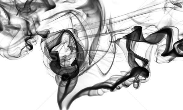 Abstract fume: black smoke swirls or curves Stock photo © Arsgera