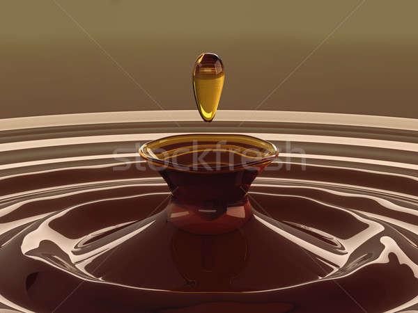 飲料 茶 下降 波浪 商業照片 © Arsgera