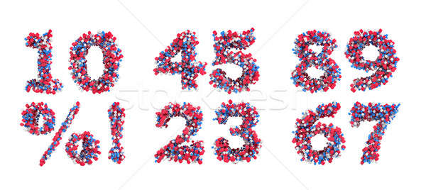 Abstract 3D font numerals and symbols Stock photo © Arsgera