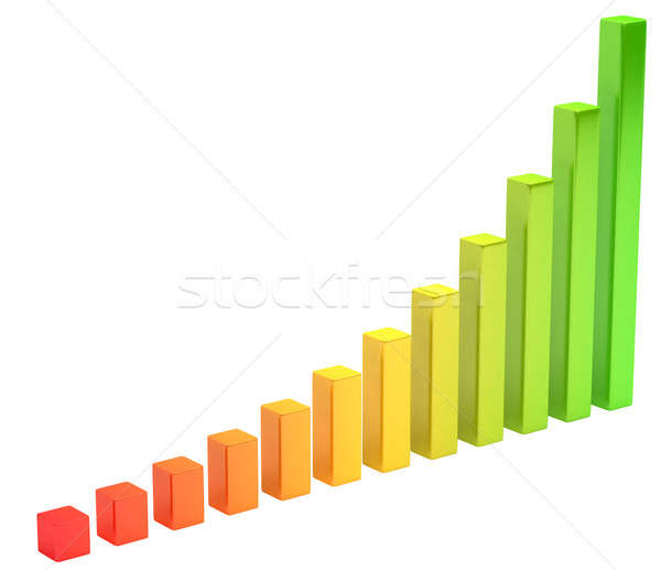 Analysis: gradient diagram or chart Stock photo © Arsgera
