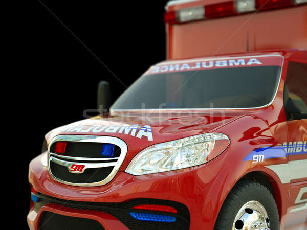 Ambulance: Closeup view of emergency services vehicle on black Stock photo © Arsgera