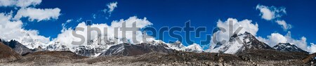 Himalayas panorama with Mountain peaks and Everest summit Stock photo © Arsgera
